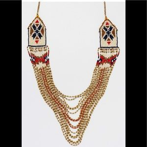 Maurices patterned seed bead statement necklace